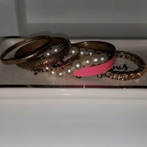 Bracelets in variety, costume jewelry